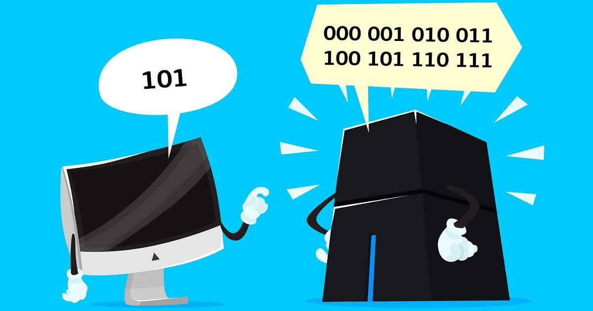 写真・図版 : 普通のコンピューター(左)と同時に多数の計算ができる量子コンピューター(右)を表した漫画=Puslatronik/Shutterstock.com