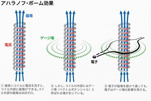 写真・図版 : 電子を使ったAB効果の検証実験の原理