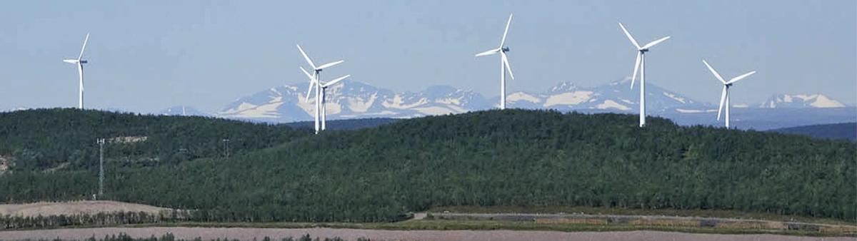 写真・図版 : キルナ市のミニ発電にあたる風力発電装置