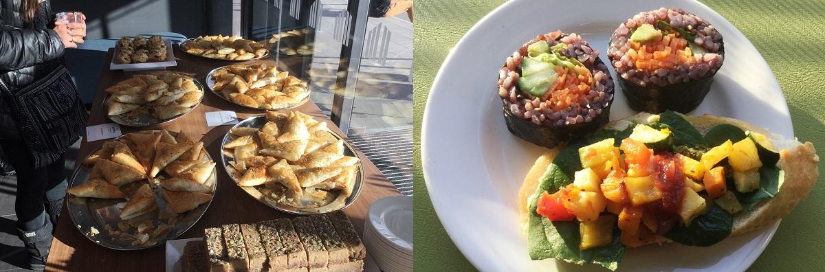 写真・図版 : ニュージーランドの国際学会では、食べ物は全てヴィーガン食だった=筆者提供