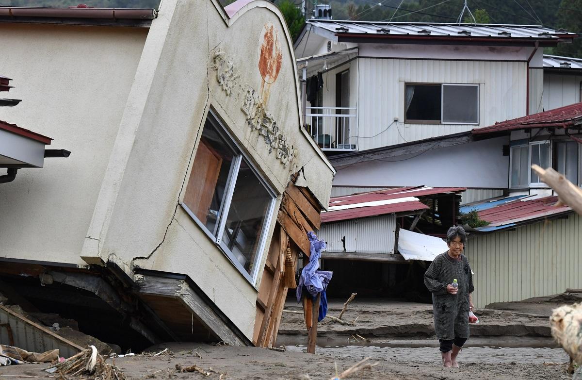 写真・図版 : 大きな被害にあった宮城県丸森町で=2019年10月14日