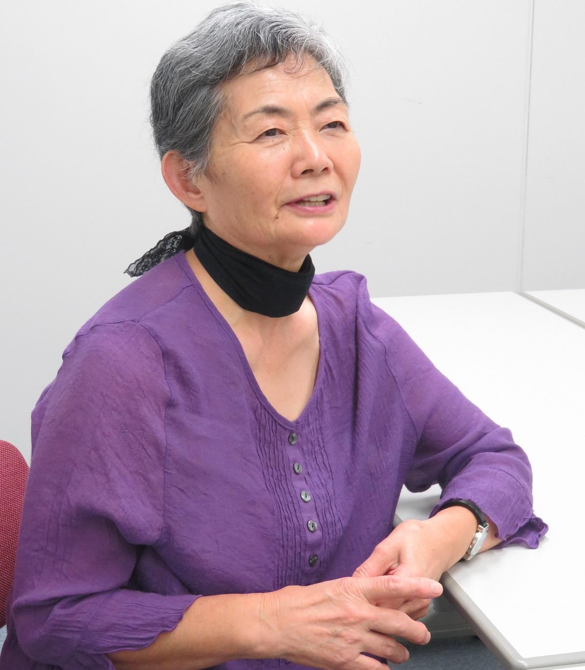 写真・図版 : 『八月のひかり』の著者・中島信子さん