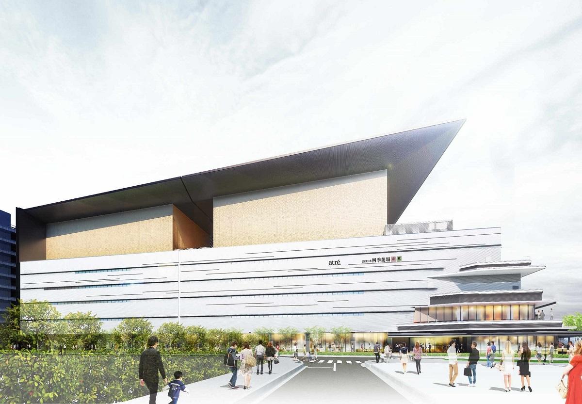 2020年、東京・竹芝にオープンする「JR東日本四季劇場」のイメージ=劇団四季提供