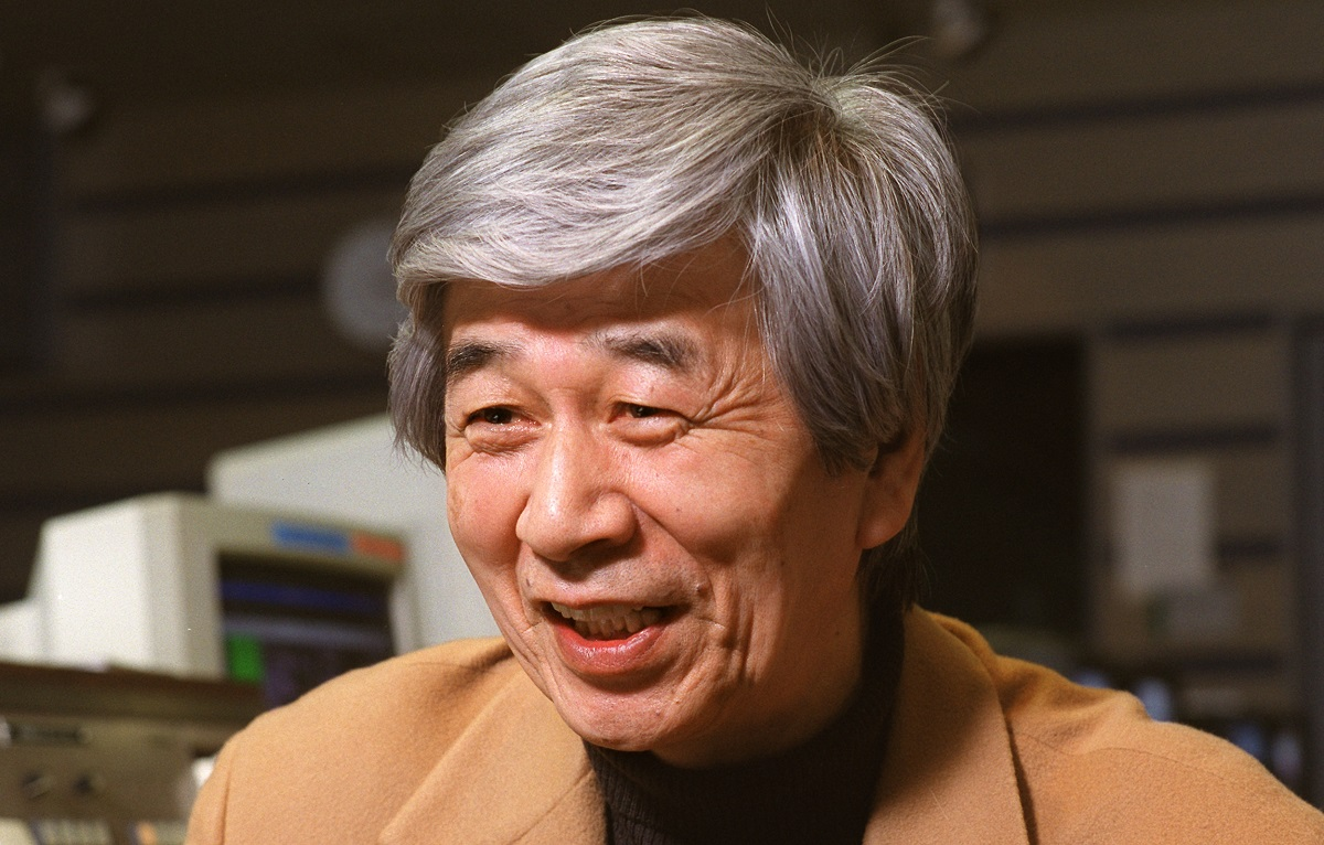 筑紫哲也さん 東京・赤坂のTBSで=1999年