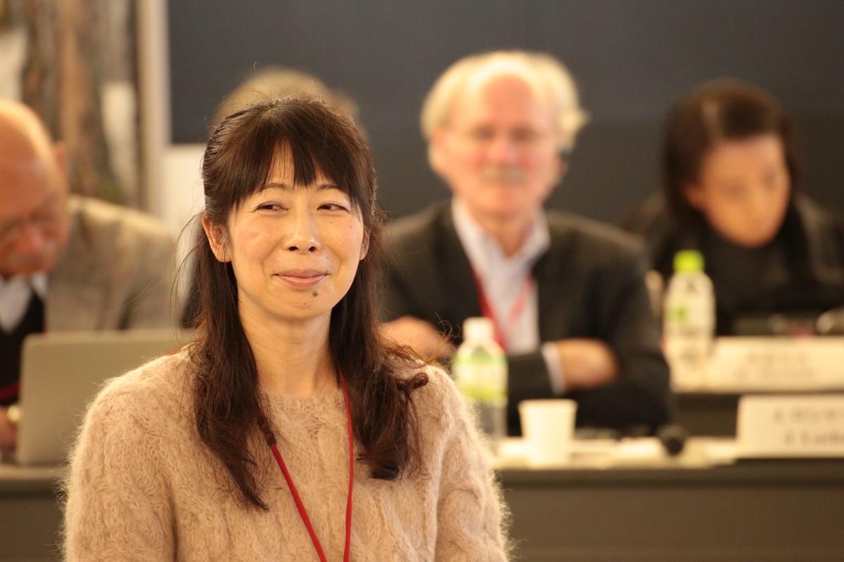 安東量子さん。ICRPダイアログセミナー、2014年12月。撮影:宮井優氏
