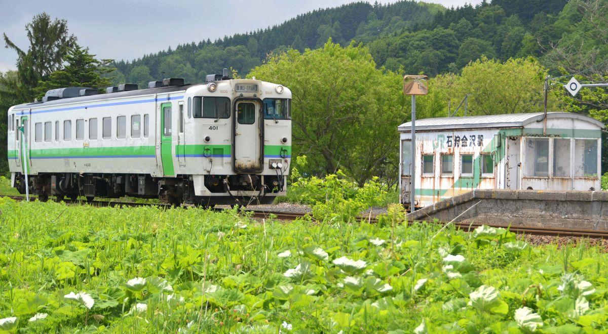 写真・図版 : JR札沼線を走る列車=2018年5月25日、北海道当別町
