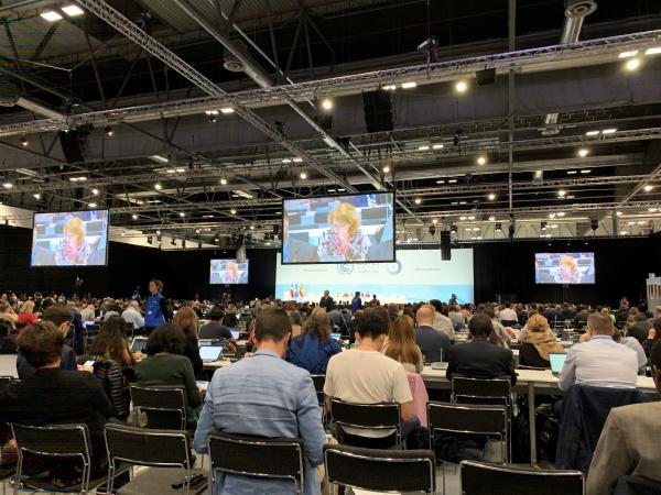 COP25の本会議場=2019年12月、スペイン・マドリード