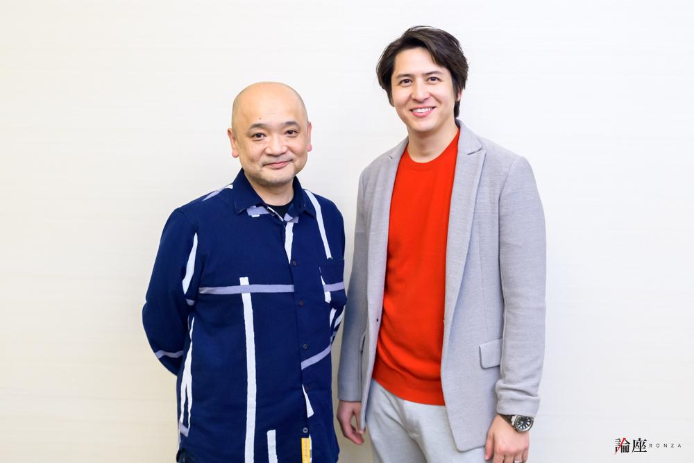 写真・図版 : 青木豪(左)と伊礼彼方=安田新之助 撮