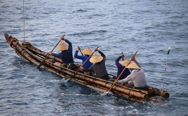 竹筏舟の失敗が考古学誌の論文になった