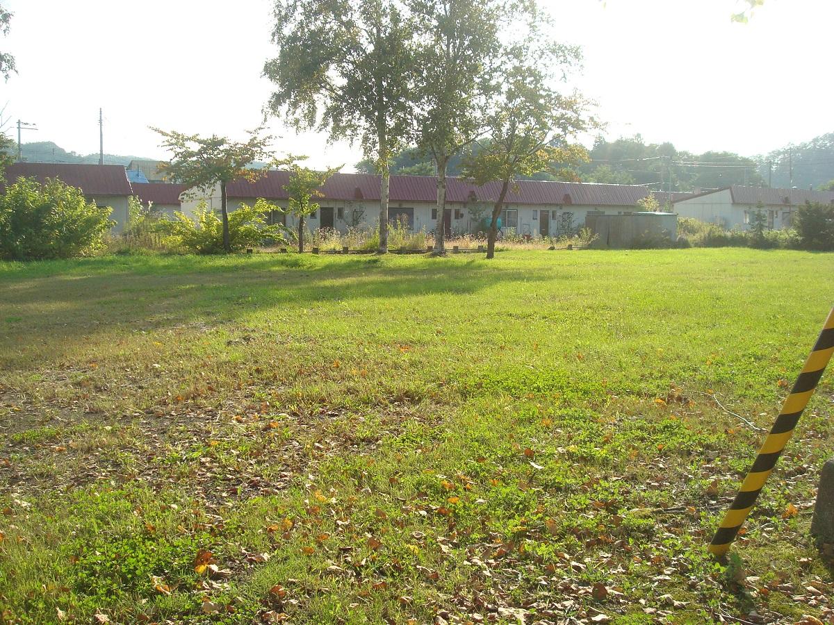 写真・図版 : 旧幾春別の炭住(炭鉱住宅)がまた残っていて、一部は市営住宅になっている