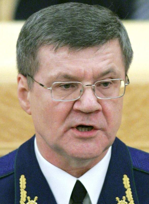 写真・図版 : ユーリー・チャイカ検事総長