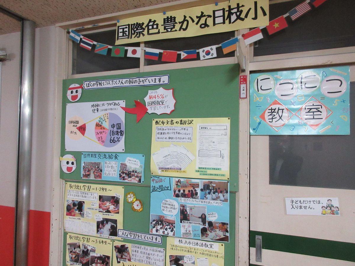 写真・図版 : 横浜市立日枝小学校の国際学級=岩崎撮影