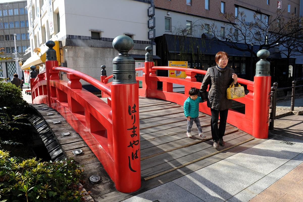 写真・図版 : 1番の歌詞にははりまや橋が登場する=高知市
