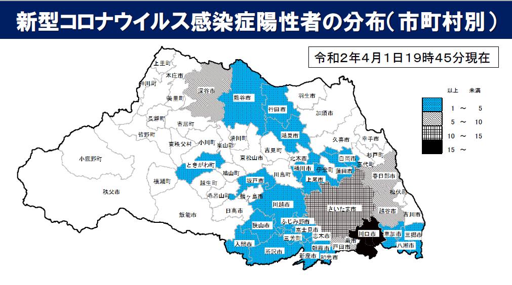 坂戸 市 コロナ 感染 者 新型コロナウイルス陽性者の発生状況(令和3年4月5日現在)