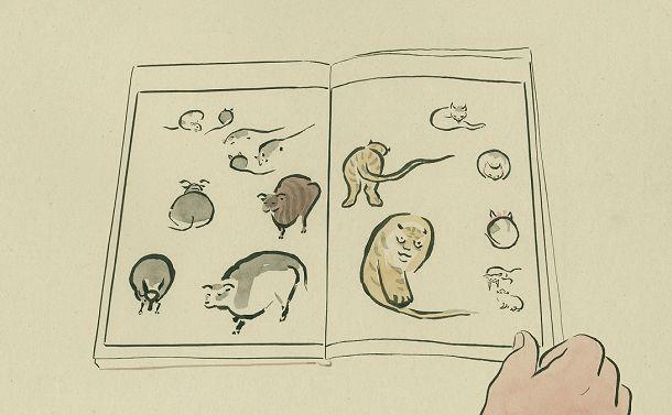 写真・図版 : 山村浩二のアニメーション映画『ゆめみのえ』のワンシーン