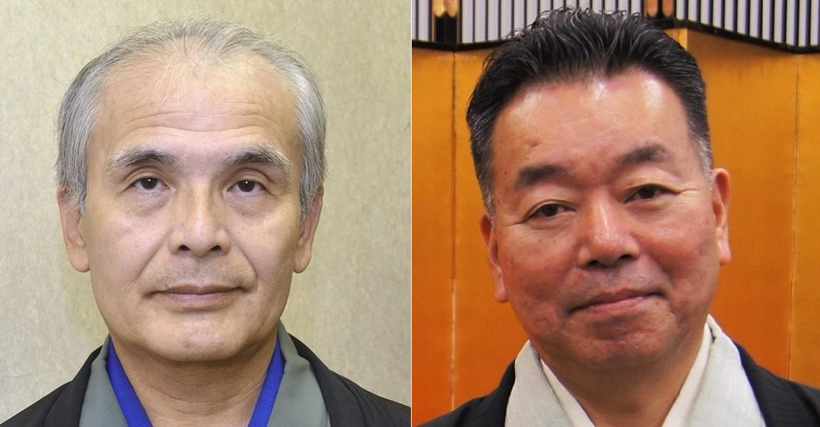 写真・図版 : 講談の神田愛山(左)、旭堂南海