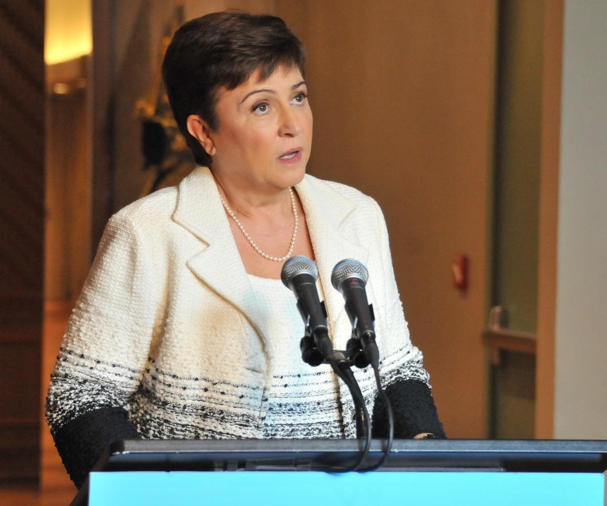 写真・図版 : IMFのゲオルギエワ専務理事