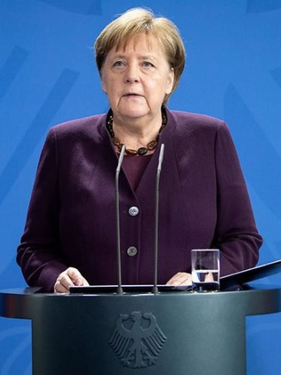 写真・図版 : 2月20日、ドイツでの連続射殺事件を受け「人種差別は毒だ」との声明を出すメルケル首相=ドイツ政府HPより