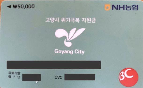 新型コロナ対策で役所から私に届いたクレジットカード