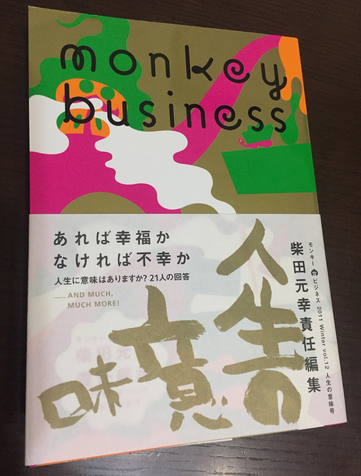 『monkey business』2011年冬号(ヴィレッジブックス)