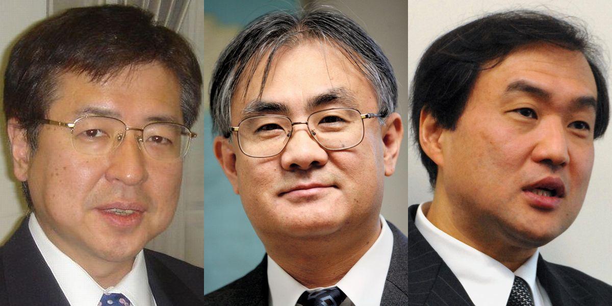 写真・図版 : 歴代の駐米公使を務めていた頃の(左から)兼原氏、石井氏、秋葉氏
