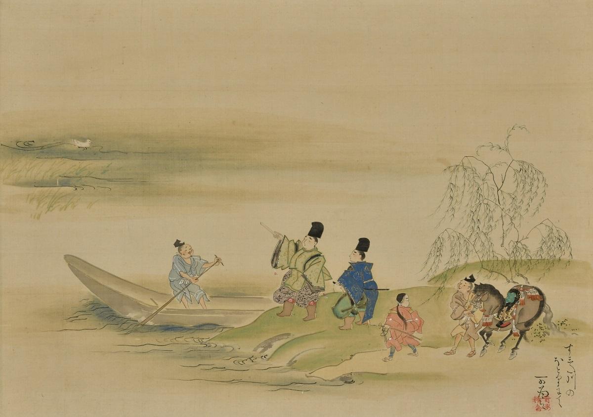 写真・図版 : 浮田一蕙『隅田川図』(19世紀後半、35.5×50.2センチ、敦賀市立博物館蔵)