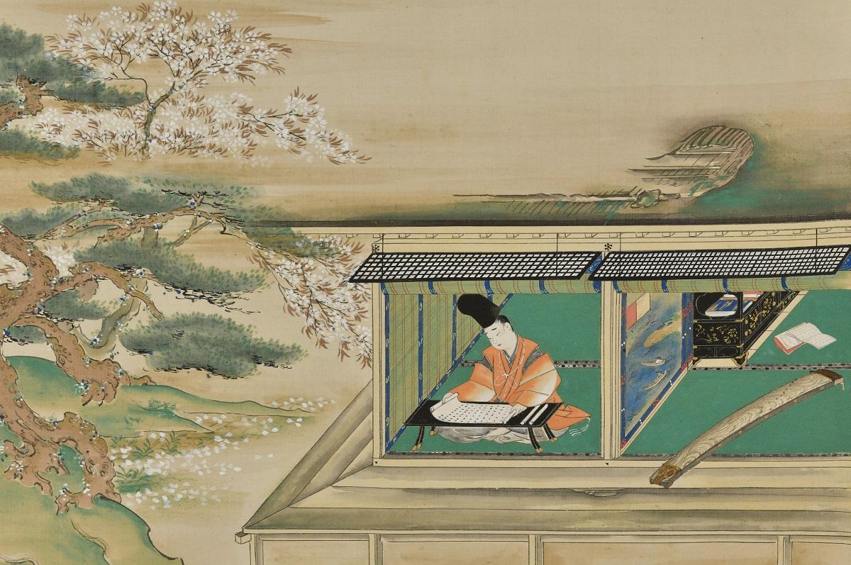写真・図版 : 浮田一蕙『徒然草図』(部分、敦賀市立博物館蔵)