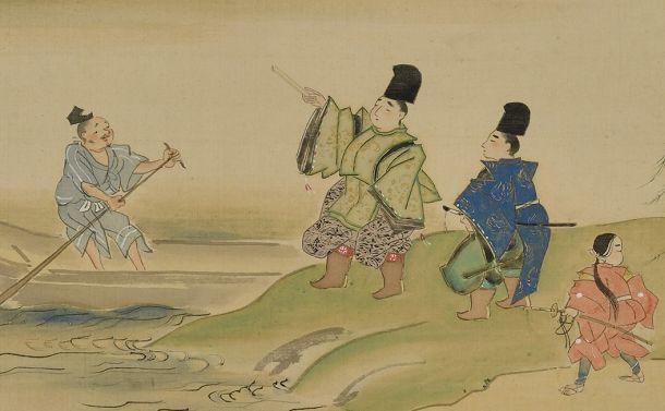 写真・図版 : 浮田一蕙『隅田川図』(部分、敦賀市立博物館蔵)