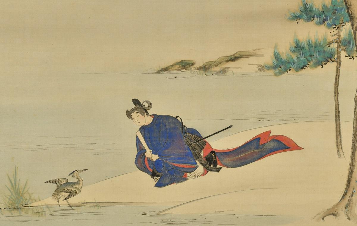写真・図版 : 冷泉為恭『五位鷺図』(部分、敦賀市立博物館蔵)