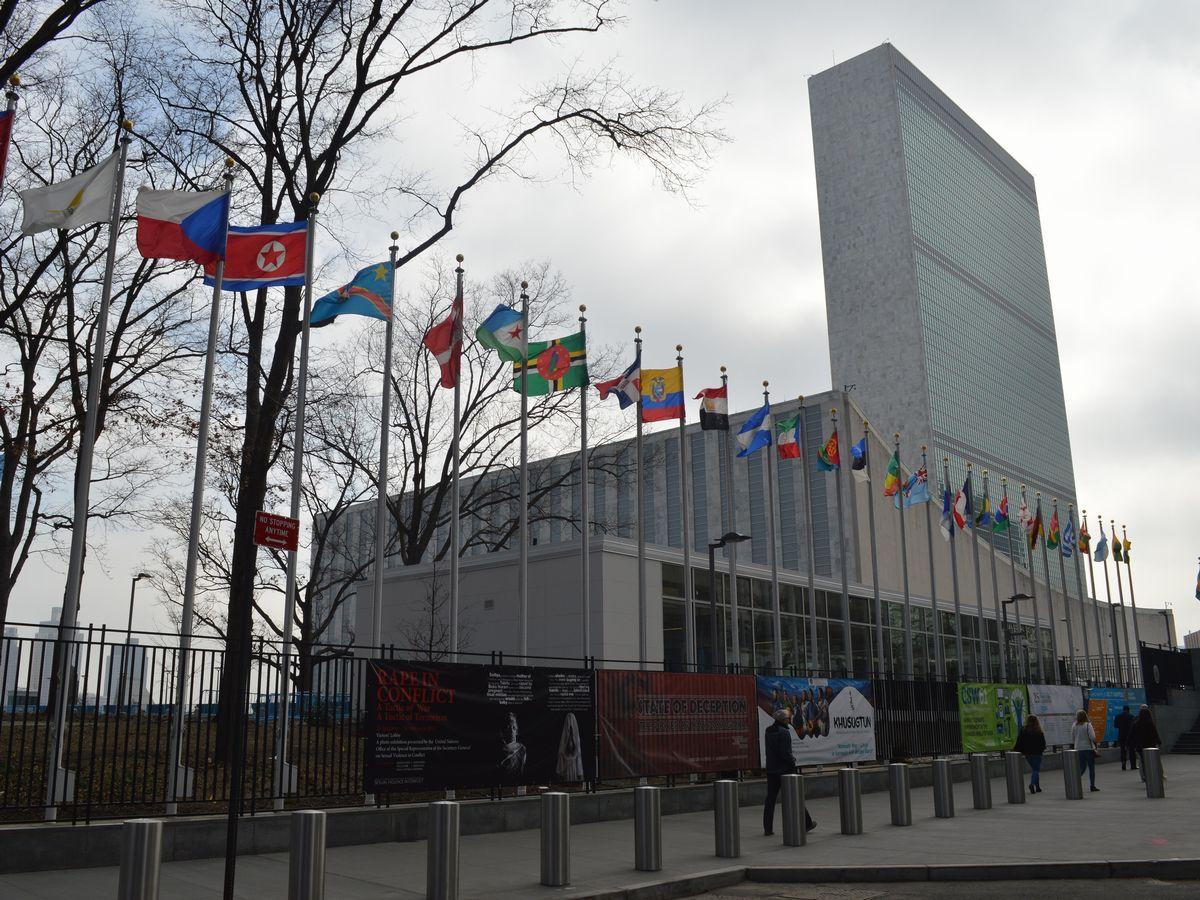 写真・図版 : 米ニューヨークの国連本部=2017年。藤田撮影