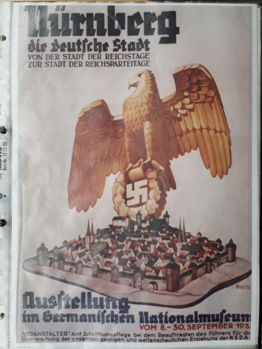 写真・図版 : 1937年にニュルンベルクで開かれたナチス党大会のポスター=フィーデラーさんの資料より