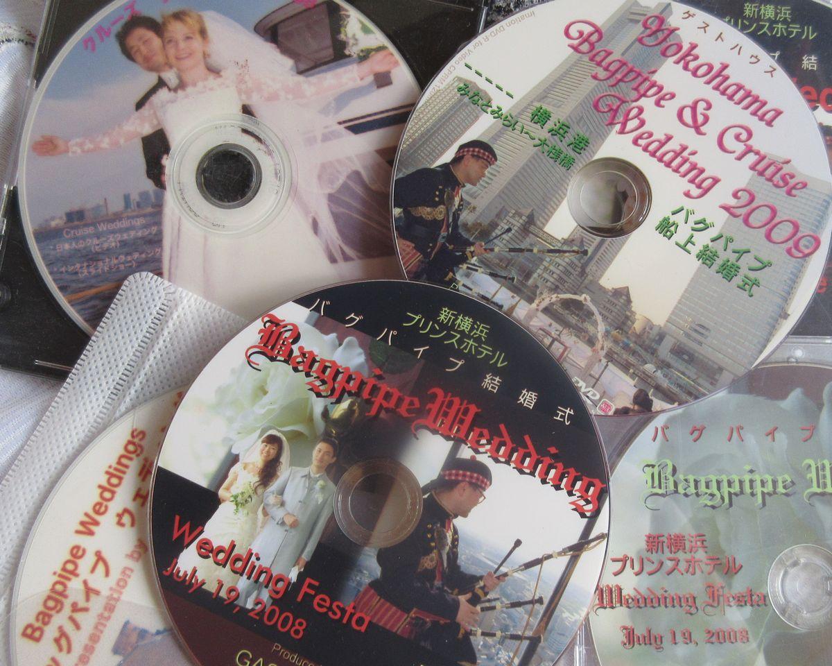 写真・図版 : バグパイプ結婚式を紹介するホテルの広報DVD