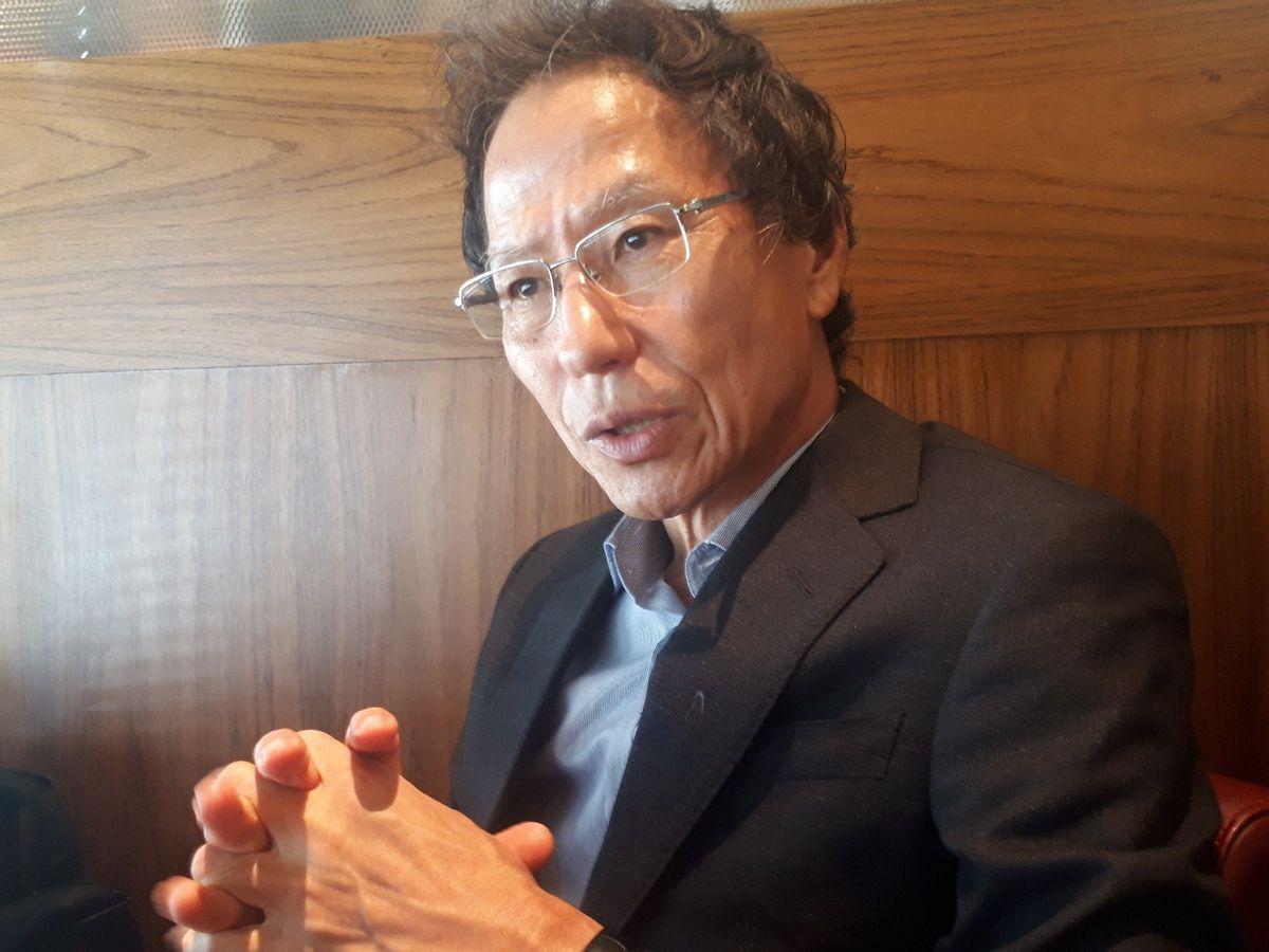 写真・図版 : 姜尚中・東京大学名誉教授=昨年8月、東京都内。藤田撮影