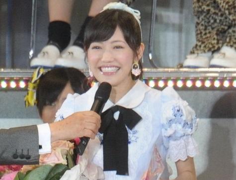 選抜総選挙で1位となった時の渡辺麻友さん=2014年6月