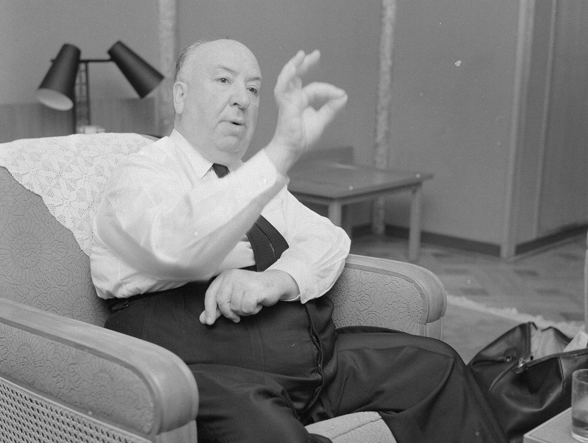 来日時のアルフレッド・ヒチコック=1960年4月20日、神奈川県の箱根富士屋ホテル