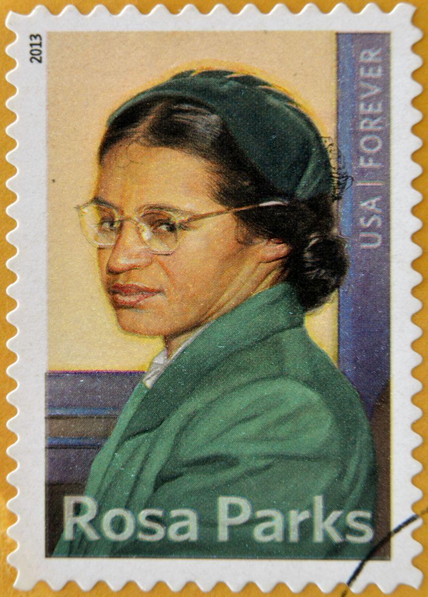 写真・図版 : ローザ・パークスの肖像をあしらった切手 neftali/shutterstock.com