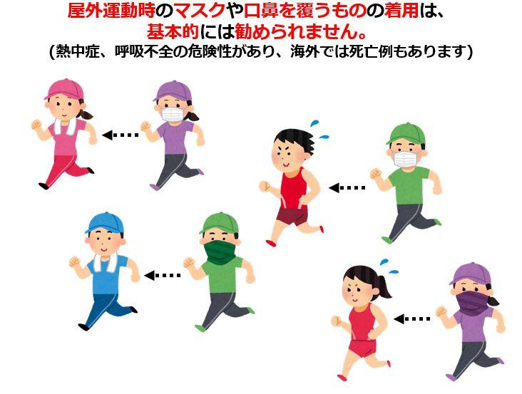 ジョギングにマスクの誤解