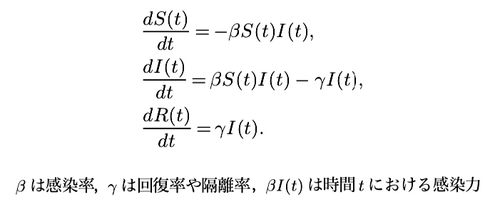 写真・図版 : ケルマック・マッケンドリック型の常微分方程式