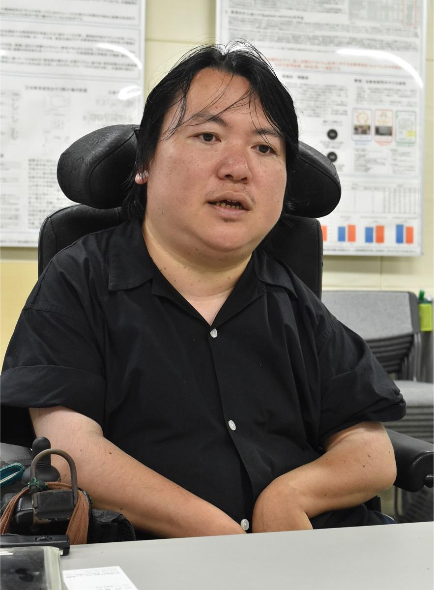 写真・図版 : 熊谷晋一郎さん=2019年7月2日、山内深紗子撮影