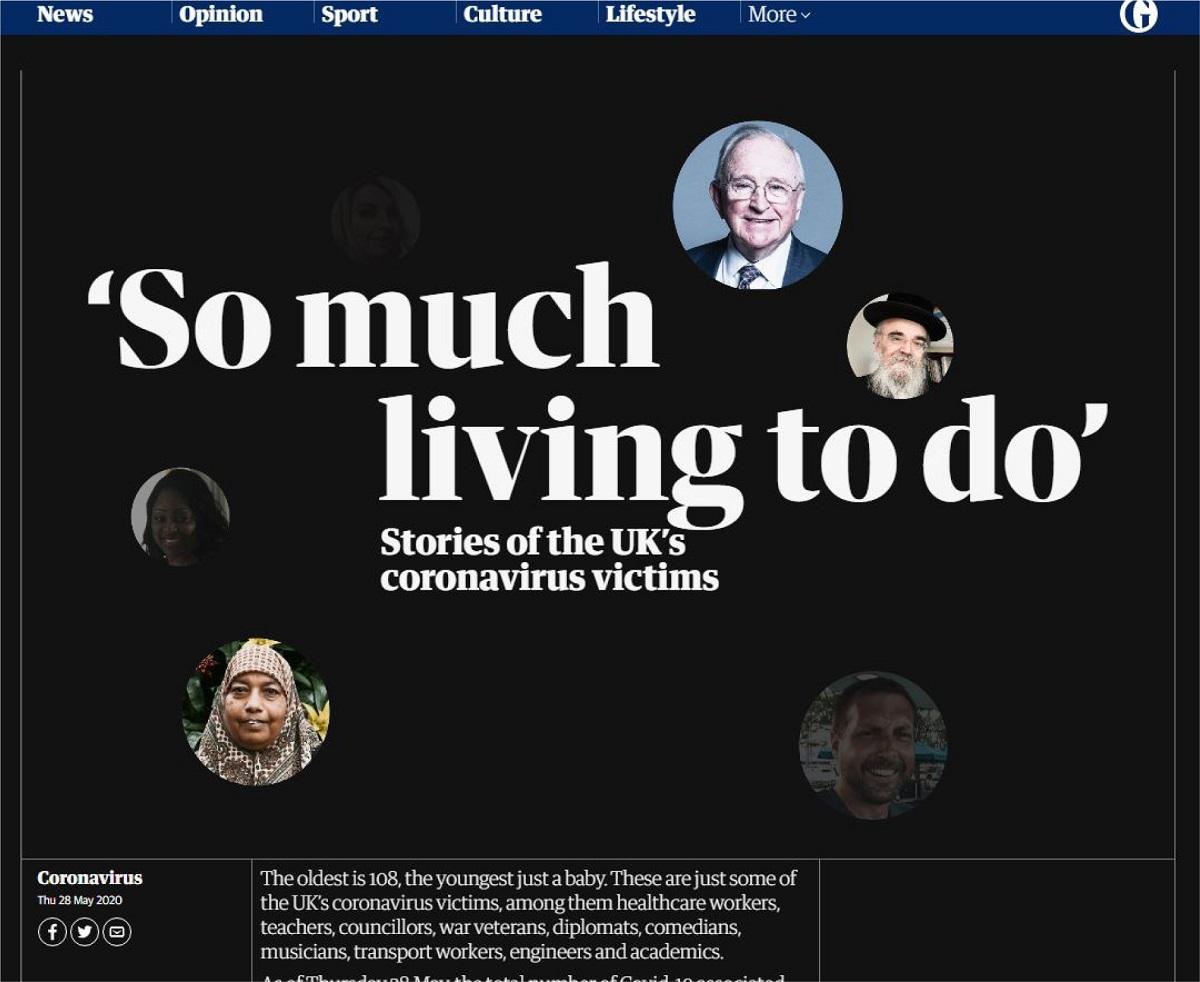 写真・図版 : 英ガーディアン紙の犠牲者追悼サイト