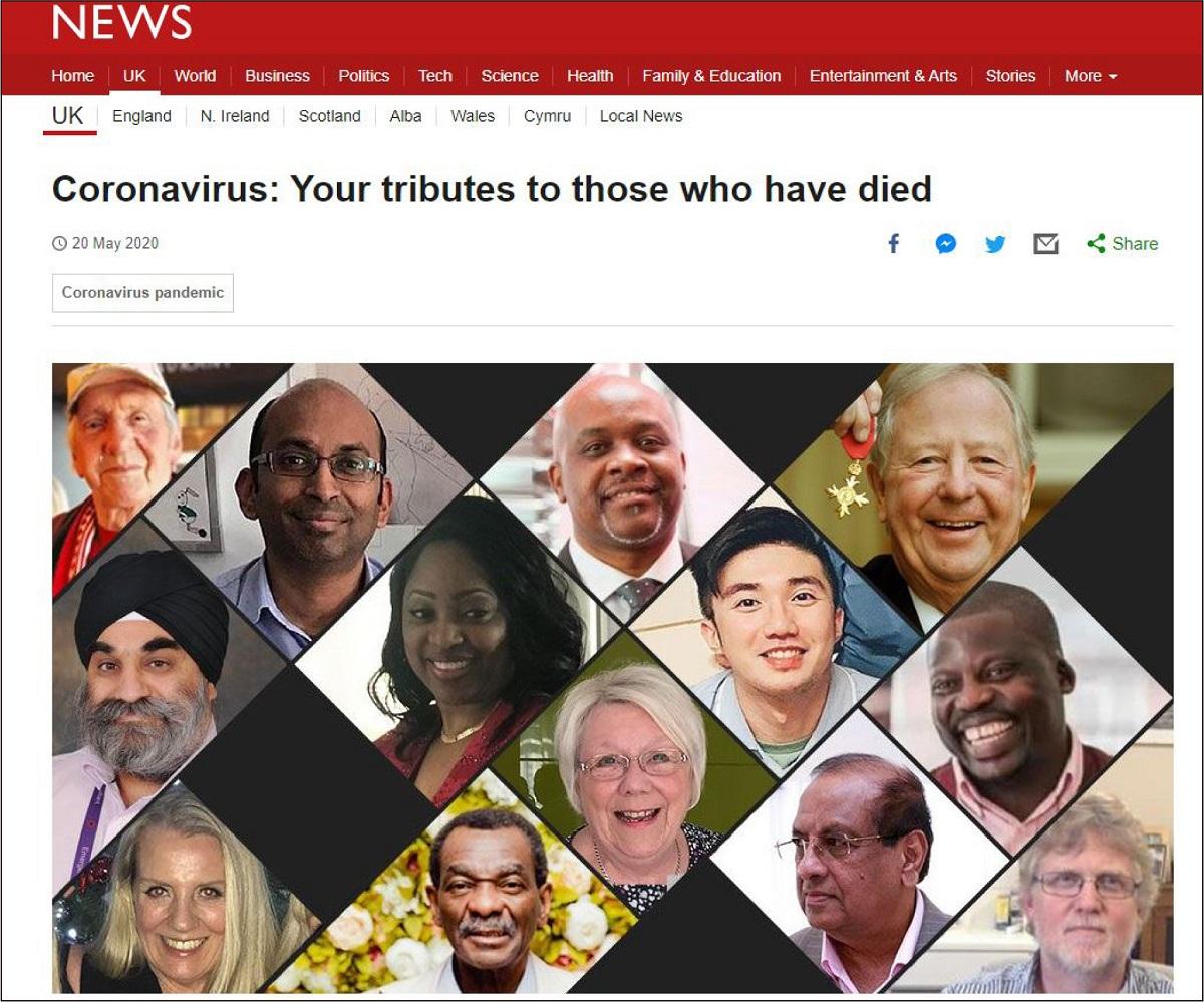 写真・図版 : 英BBCの犠牲者追悼サイト