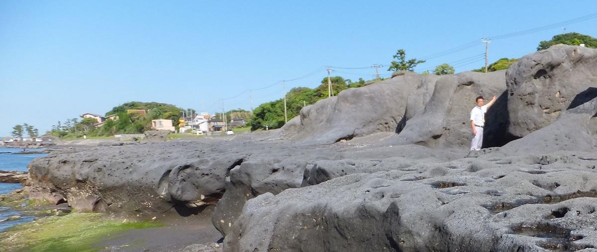 写真・図版 : 関東大震災と元禄地震で隆起した海岸段丘=千葉県館山市