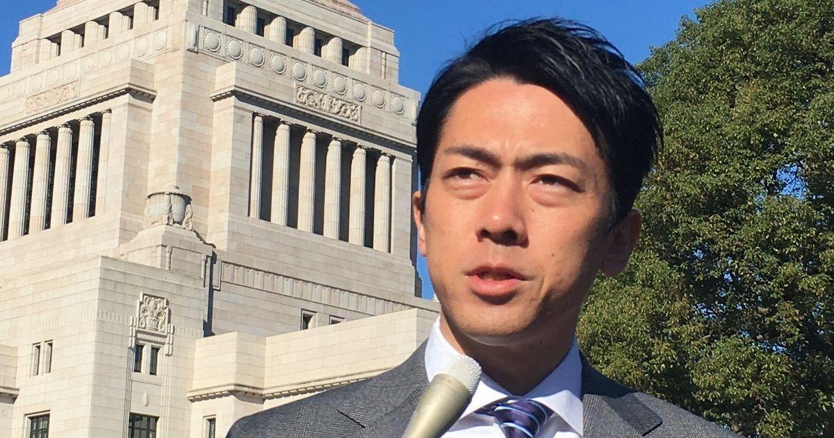 写真・図版 : 記者会見に応じる小泉進次郎環境相=2019年11月8日、国会