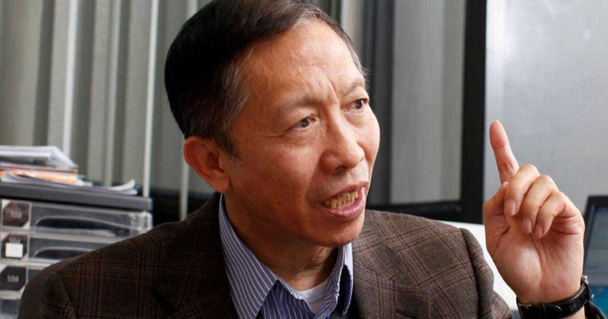 写真・図版 : 許成鋼・香港大学名誉教授=2014年2月、香港大学、包瑾健氏撮影