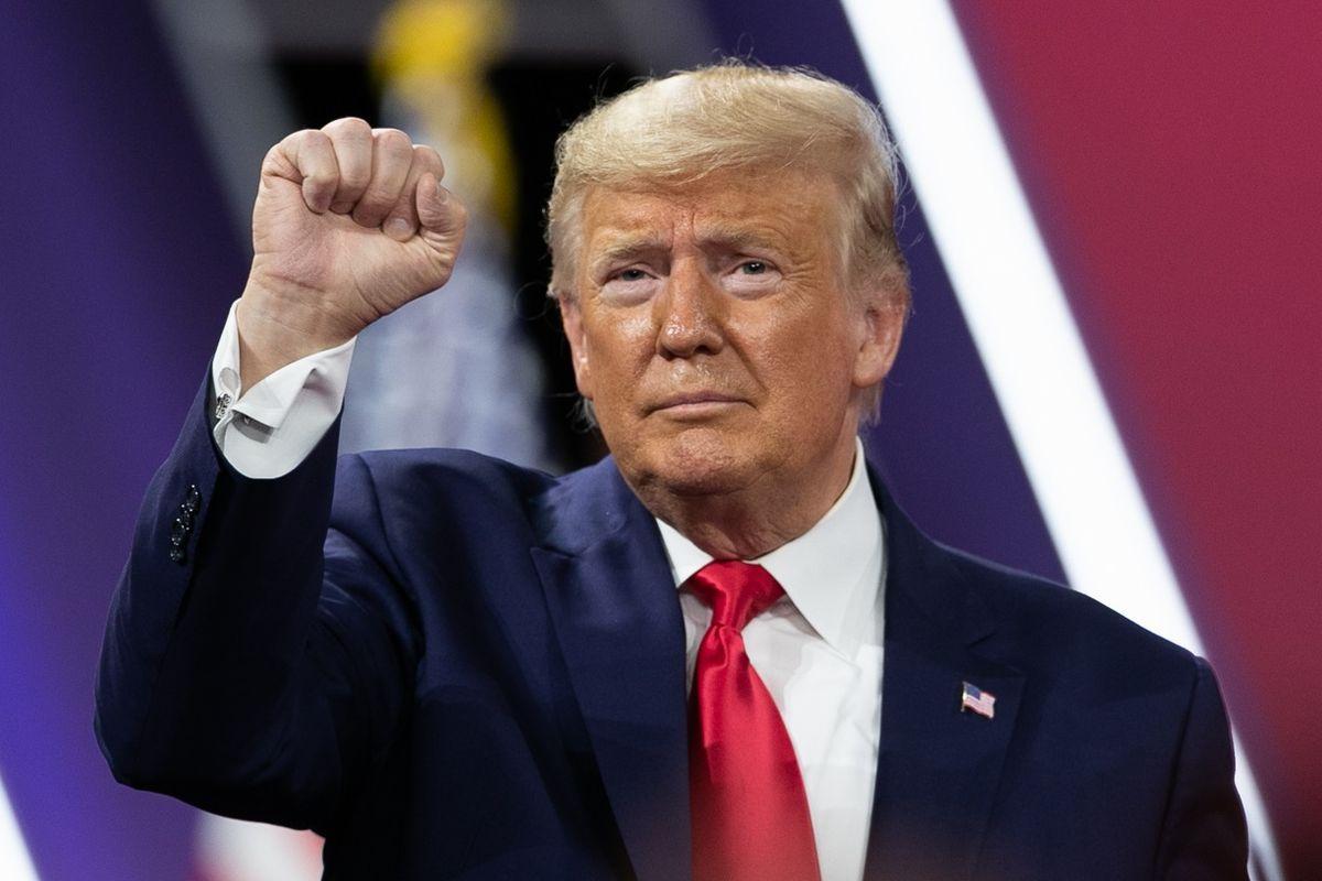 写真・図版 : トランプ大統領=2020年2月29日、ランハム裕子撮影