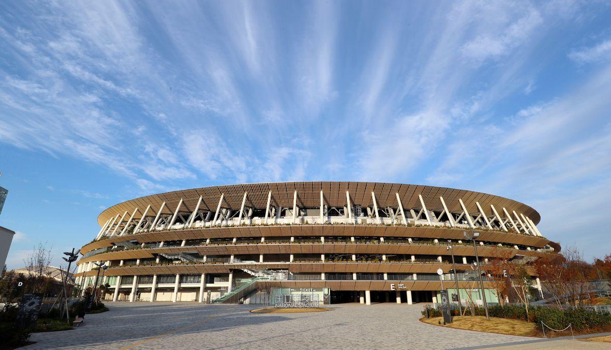 写真・図版 : 東京五輪のメイン会場となる国立競技場=2019年12月15日
