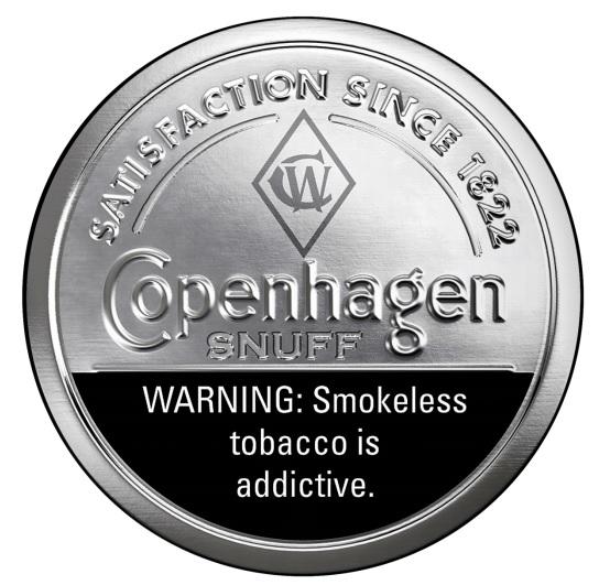 写真・図版 : 無煙たばこ製品Copenhagen brand of fine-cut moist snuff
