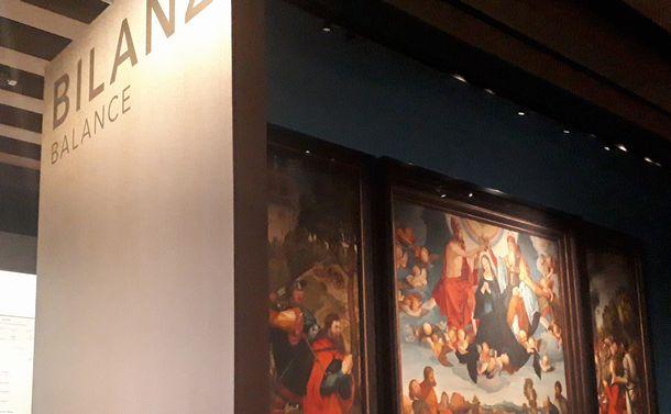 写真・図版 : フランクフルト歴史博物館の「マネーの街・BALANCE(貸借)」の展示=2月、フランクフルト。藤田撮影