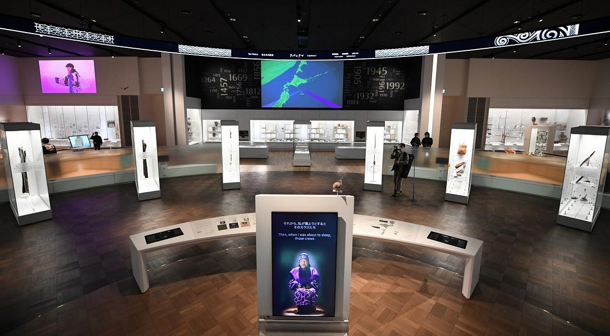 国立アイヌ民族博物館の基本展示室
