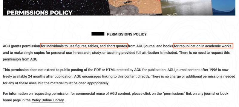 写真・図版 : 米国地球物理学連合(AGU)の引用ガイドラインが示されているサイト